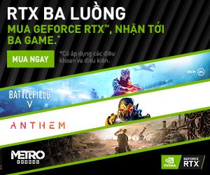 Mua Geforce RTX – nhận tới ba game khủng BF 5, Anthem và Metro Exodus