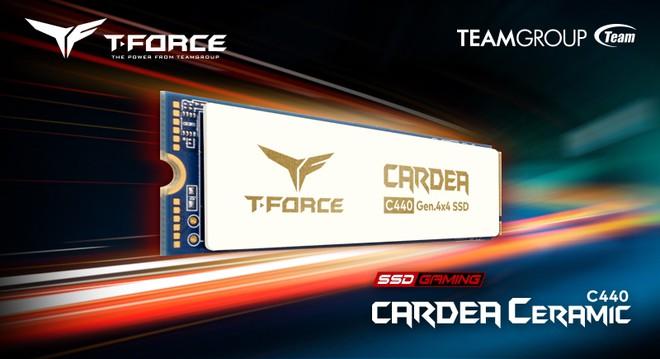 TEAMGROUP trình làng ổ cứng T-Force Cardea C440, hỗ trợ giao tiếp PCIe Gen 4, tản nhiệt bằng sứ
