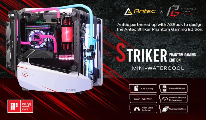 Antec ra mắt vỏ case Striker Phantom Gaming Edition độc lạ lắp ngay VGA vào mặt trước