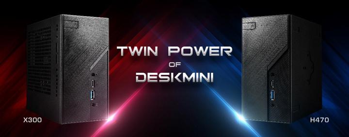 ASRock ra mắt  DeskMini H470 và DeskMini X300 siêu nhỏ gọn hiệu năng khủng
