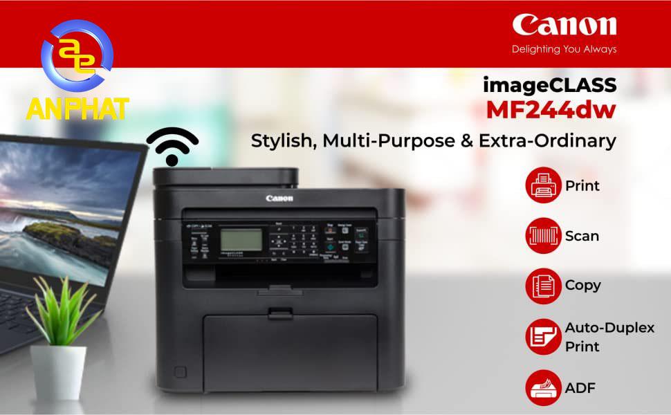 Canon MF244dw - máy in laser đa năng đen trắng tốt nhất cho gia đình và văn phòng nhỏ