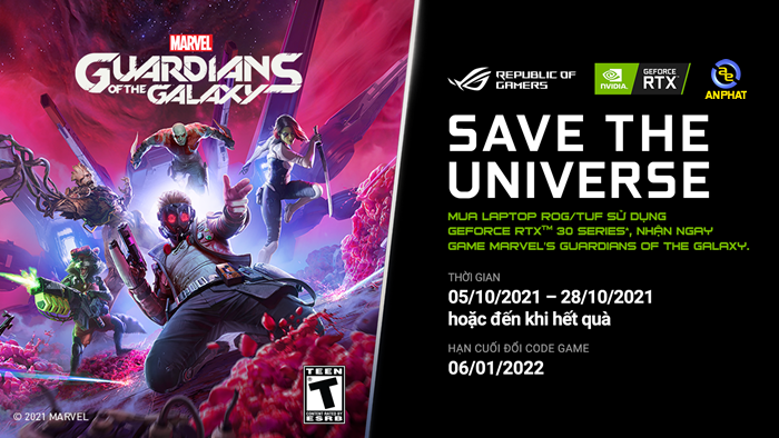Tặng code game Marvel's Guardians of the galaxy