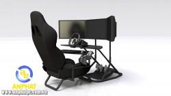 Buồng lái xe giả lập Obutto Ozone Racing SIM / Flight SIM / Workstation 3 màn hình ( màn hình và phụ kiện không kèm sẵn )