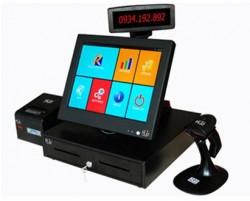 """Máy tính tiền TopCash POS QT-68P màn hình cảm ứng 15"""" TFT LCD"""