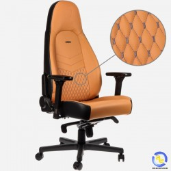 Ghế Noblechairs ICON Series Real Leather Cognac Black