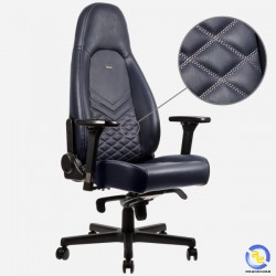 Ghế Noblechairs ICON Series Real Leather Midnight Blue Graphite