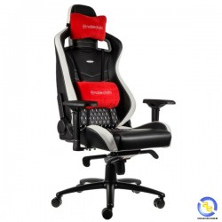 Ghế Noblechairs EPIC Series Real Leather Black White Red