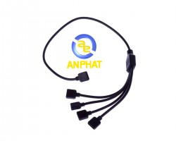 Cable 1 to 4 splitter LED RGB - Dây cáp chia led RGB