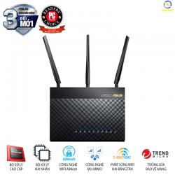 Router Wifi ASUS RT-AC68U (Chuẩn Doanh Nghiệp) Chuẩn AC1900 MU-MIMO Hỗ trợ AiMesh, bảo vệ mạng AiProtection