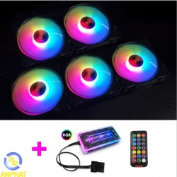 Fan case COOLMOON AURA RGB (pack 5 fan) coolman