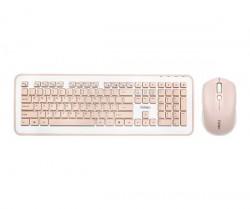 Bộ bàn phím chuột không dây Fuhlen MK880-Pink