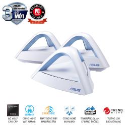 Router Wifi Băng Tần Kép Asus MAP-AC1750 (3-PK)  anten 3x3 MU-MIMO, bảo vệ mạng AiProtection, quản lý thời gian truy cập, Mesh Wifi
