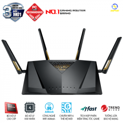 ASUS RT-AX88U (Gaming Router) Wifi AX6000 2 băng tần, Wifi 6 (802.11ax), AiMesh 360 WIFI Mesh, AiProtection, USB 3.1