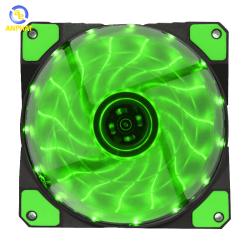 Quạt tản nhiệt cho máy tính GAMEMAX Fan 12cm - Led 15bóng - GREEN