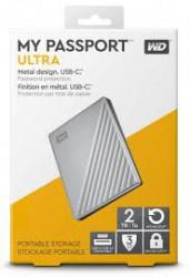 """Ổ cứng gắn ngoài WD My PassPort Ultra 2.5"""" 2TB USB Type C (màu bạc)"""