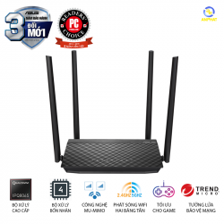 Router Wifi ASUS RT-AC1500UHP (Dũng Sĩ Xuyên Tường) Chuẩn AC1500 MU-MIMO, 2 băng tần, USB, Stream 4K