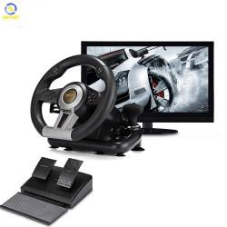 Vô lăng chơi game PXN V3 II Pro Racing Wheel cho PC / Playstation 4 ( Quay 180 độ , có rung , có cần số , 6 Platform...)