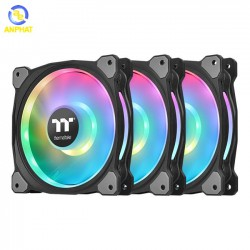 Quạt tản nhiệt Thermaltake Riing Duo 12 RGB (3-Fan Pack)  CL-F073-PL12SW-A