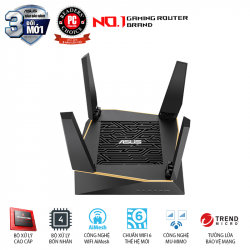 ASUS RT-AX92U 1 Pack (AiMesh Router) Wifi AX6100 3 băng tần, Wifi 6 (802.11ax), AiMesh 360 WIFI Mesh, AiProtection, USB 3.1