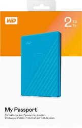 Ổ cứng di động WD My Passport Portable  2.5'' 2TB USB 3.0 - màu xanh (Blue)