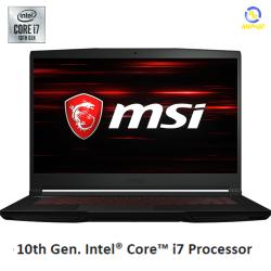 Laptop MSI GF63 Thin 10SCSR 077VN (15.6'' FHD IPS/i7-10750H/8GB DDR4/SSD 512GB NVMe/GTX1650 Ti Max Q/Win 10/1.86 kg