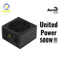 Nguồn máy tính AEROCOOL UNITED POWER 500W 80Plus Certified