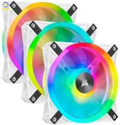 Bộ 3 quạt máy tính 120mm Corsair  QL120 WHITE PRO RGB LED kèm Node CORE (CO-9050104-WW)