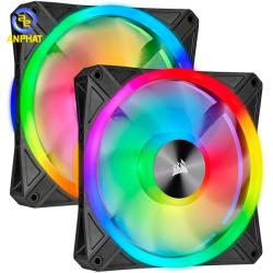 Bộ 2 quạt máy tính 140mm Corsair QL140 PRO RGB LED kèm Node PRO (CO-9050100-WW)