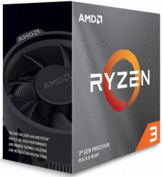 CPU AMD Ryzen 3 3300X, Wraith Stealth cooler/ 3.8 GHz (4.3 GHz with boost) / 18MB / 4 cores 8 threads / 65W / Socket AM4