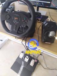 Vô lăng chơi game PXN V9 Gaming Racing Wheel - Vô lăng 270/900 độ , pedal chân côn , số sàn 7 cấp , Có RUNG hỗ trợ PS3, PS4, Xbox One, Nintendo Switch