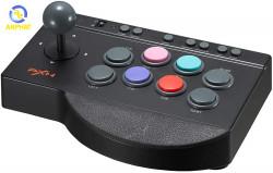 Cần Gạt Chiến Đấu Arcade Fight Stick PXN 0082 - Tay Cầm Chơi Game Có Dây USB Cho PS4 / PS3 / Switch / Xbox One /Window PC