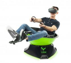 Bộ ghế chơi game thực tế ảo mô phỏng YAWVR Standard có chuyển động 360 độ đua xe lái máy bay