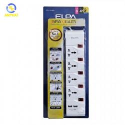 Ổ cắm điện ELPA ESU-VNI43 4 ổ điện, 5 công tắc, 3m, 2xUSB