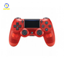 Tay bấm game Sony PS4 DUALSHOCK 4 Crystal Red (chính hãng Sony Việt Nam)