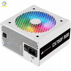 Nguồn máy tính Corsair CX750F RGB White 80 Plus Bronze - Full Modul