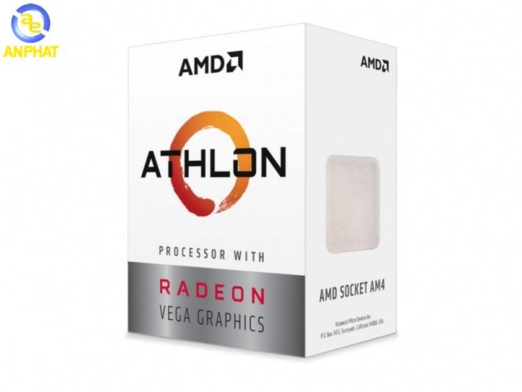 CPU AMD Athlon 200GE (3.2GHz/ 2 nhân 4 luồng/ Radeon™ Vega 3 Graphics)
