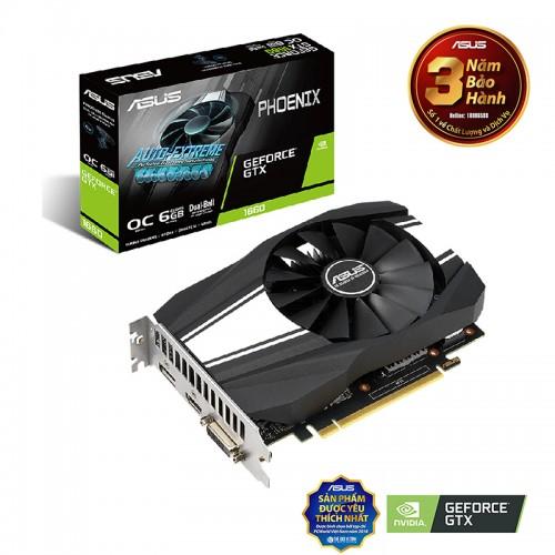 VGA ASUS Phoenix GeForce GTX 1660 6GB GDDR5 (PH-GTX1660-6G)