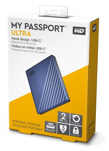 """Ổ cứng gắn ngoài WD My PassPort Ultra 2.5"""" 2TB USB Type C (màu xanh)"""
